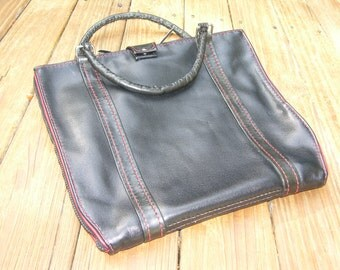 SOFT SIDE BRIEFCASE all hand stitched all leather for small laptop or tablet.