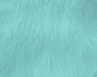 Baby Blue Luxury Shag Faux Fur Fabric