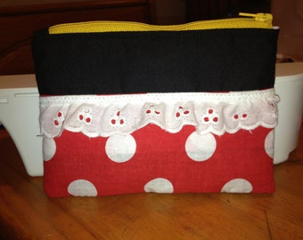 Disney Minnie Mouse Inspired Coin Purse