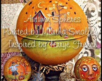 Autumn Spheres - Painted by Martha Smalley,  Painting With Friends E Pattern
