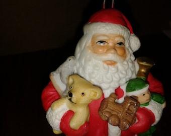 1982 Milano Porcelain Santa Claus by Eda Ornament