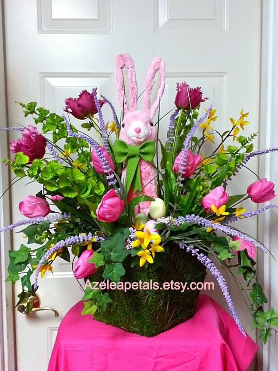 10 Off Ready To Ship Raz Easter Bunny Arrangement Spring