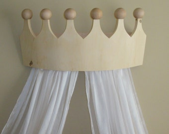Large Princess / Prince Bed Crown Valance/Canopy