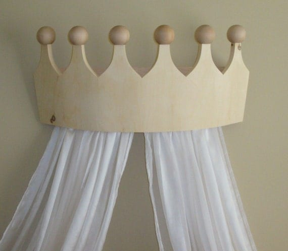 Princess Bed Canopy Girl Crown Pelmet Upholstered Awning: Large Princess / Prince Bed Crown Valance/Canopy