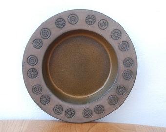 Swedish Upsala Ekeby 'Rabatt' bronze dish/plate by Goran Andersson.
