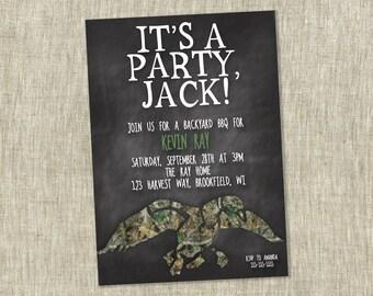 Duck Dynasty Birthday, Birthday Party Invite, Children's Birthday, Party Invitation, Party Si Jack - Customizable  - PRINTABLE / DIY