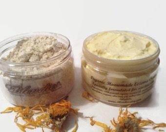 Natural Eczema Cream Relief Kit Homemade 2oz jars