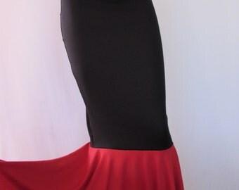 High Waist Mermaid  Skirt Fish tail,  Stretch , Fairy Circle skirt, ZanzaDesignsClothing