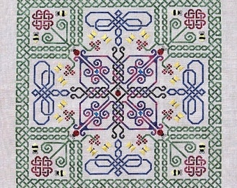 Celtic Wings PDF Chart by Northern Expressions Needlework