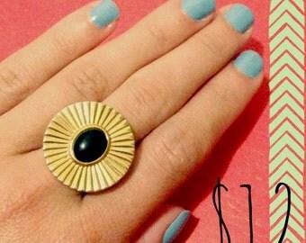 Vintage Earring Turned Ring