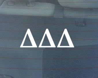 "Delta Delta Delta Sorority Sticker Window Laptop Car Decal Vinyl Ipad Iphone 3"" 6"" 8"""
