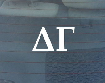 "Delta Gamma Sorority Sticker Window Laptop Car Decal Vinyl Ipad Iphone 3"" 6"" 8"""
