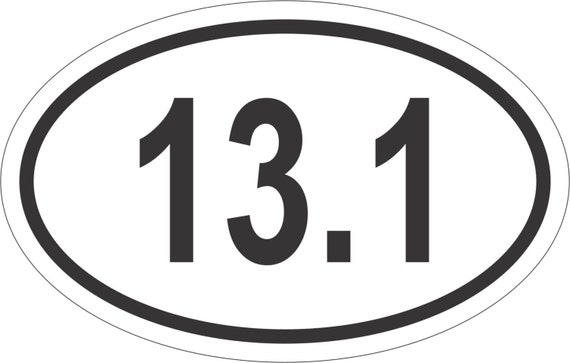 Oval sticker 13 1 bumper sticker window decal by stickertiger for 13 1 window sticker
