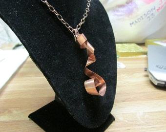 Copper Pendant with Copper Chain.