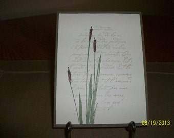Cattails Note Card