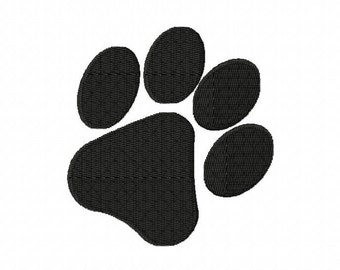 Paw Print Machine Embroidery Design Multiple Formats Available - Instant Download