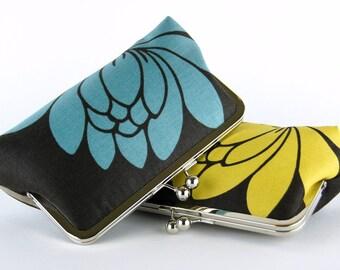 Bridesmaid Gift, Lotus  Clutch, Silk Lining, Bridesmaid Clutch, Wedding clutch