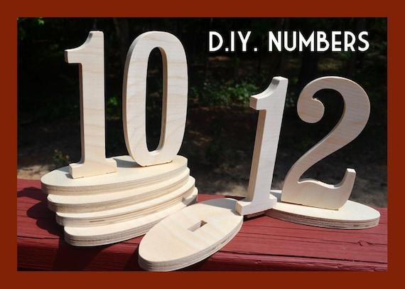 fancy diy wood table numbers 11