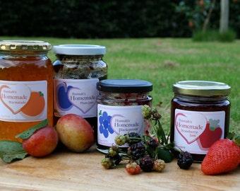 18 Personalised Jam / Chutney Jar Labels (Good quality labels (Avery))