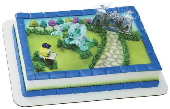Items Similar To Monsters University Cake Topper Birthday Party Supplies Disney Pixar Toys On Etsy