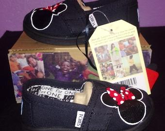 Girls - Toddler Black Minnie Toms