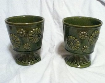planters Retro planter flower pot pair