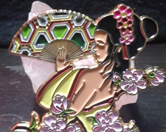 Japanese Geisha Lapel Pin