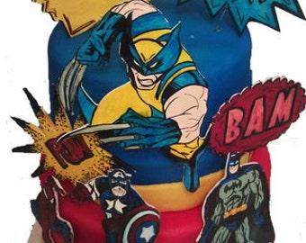 Comic Book Fondant Gumpaste Cake Decorations