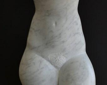 Original Salvatore Lacca fine art marble sculpture Torso