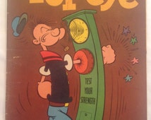 Vintage Dell Comic Book - Popeye Test Your Strength - 1960