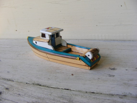 more wooden toy fishing boat jamson
