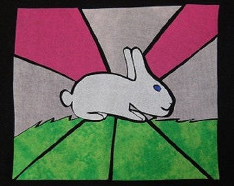 Bunny Rabbit Stained Glass Quilting Pattern Design