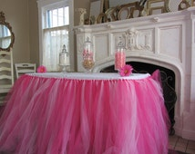 Custom Tulle Tutu Table Skirt - Pinks