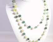 Necklace - Multi Gemstone with Freshwater pearls necklace