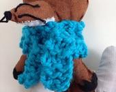 Warm Blue Scarf for Your Fox Friend