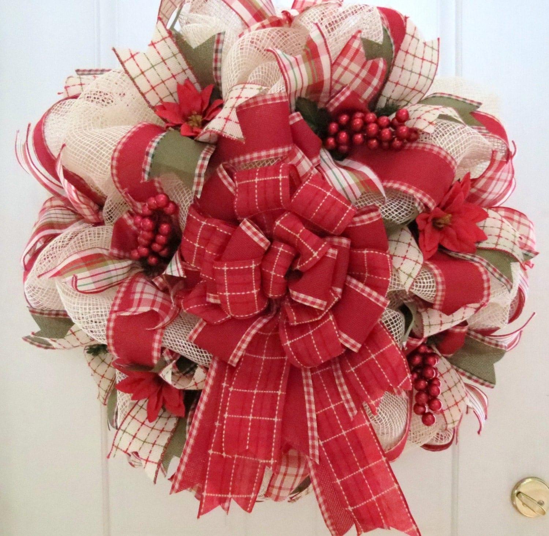 Winter Deco Mesh Wreath Mesh Wreath Winter Door Wreath Home
