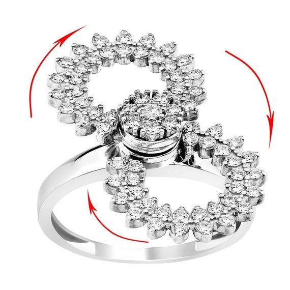 Swinging shaker motion moving ring jewelry