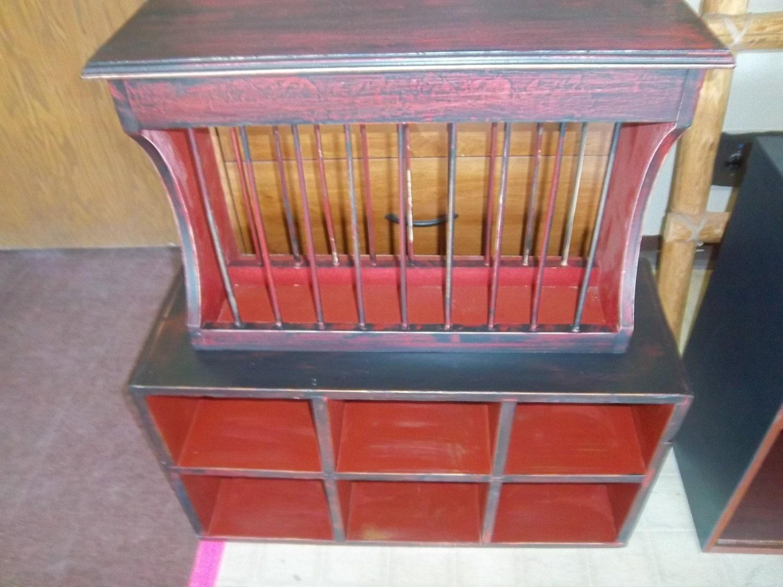 vintage plate rack storage rack wall mount table top. Black Bedroom Furniture Sets. Home Design Ideas