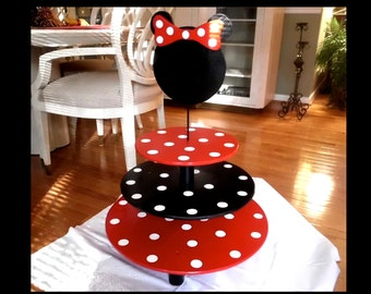 MINNIE MOUSE Cupcake Stand - 3 Tier