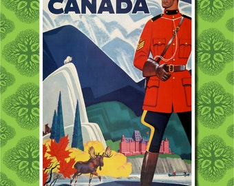 Canada Travel Poster Wall Decor (7 print sizes available)