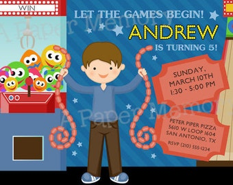 Arcade (Boy) Birthday Invitation - DIY Printable