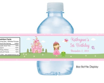 Princess Water Bottle Labels DIY Printable