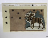 Merry Christmas Card; Reindeer