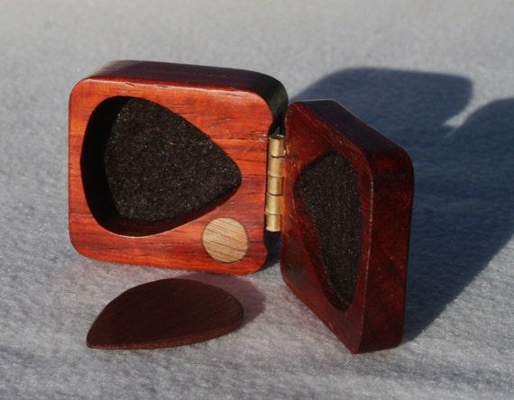 wooden guitar pick box holder paduak hard wood felt by debandf. Black Bedroom Furniture Sets. Home Design Ideas
