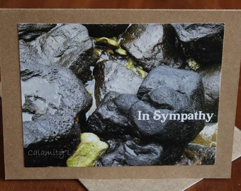 Sympathy Greeting Card - Brown - Photo - Condolence - Friendship - Rocks - Hawaii - Good for Men