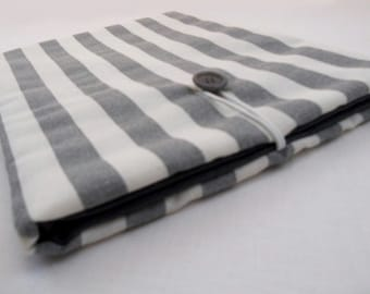 White and grey rows custom padded tablet case - iPad cover - iPad Air cover