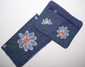 Embroidered Checkbook Cover and Matching Change Purse