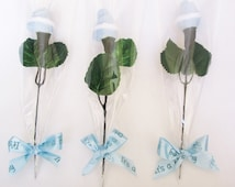Baby shower favors,  Baby socks flowers, Unique baby shower favor, I'ts a boy favor, baby socks roses, baby shower guest favor..
