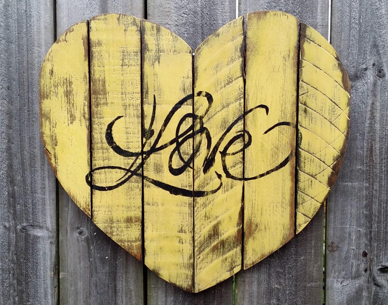 Shabby chic handmade reclaimed pallet wood love by - Cuadros shabby chic ...