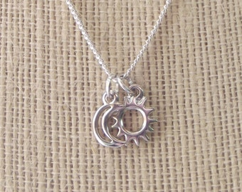 Celestial Dainty Charm Necklaces - Eclipse, Sun, Moon, Star, Galaxy, Universe, Outer Space, Planets, Astronomy, Astrological, Twitches